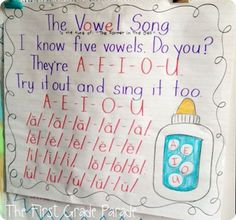 The Vowel Song (to the tune of The Farmer in the Dell) from The First Grade Parade!