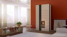Szentesi Tile Stove  http://tamaserdodi.com  #3D #visual #viz #furniture #tile #stove #design #books #book #modern #flat #loft