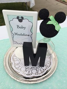 Pretty decorations from a Minnie Mouse Baby Shower!  See more party ideas at CatchMyParty.com!