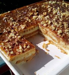 Greek Sweets, Greek Desserts, Cold Desserts, Summer Desserts, Greek Recipes, Desert Recipes, Sweets Recipes, Cake Recipes, Cooking Recipes