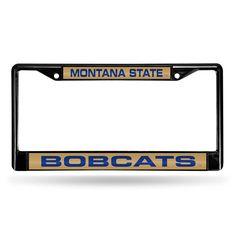 Montana State Bobcats NCAA Black Chrome Laser Cut License Plate Frame
