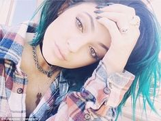 Grunge queen: Kylie Jenner got snap happy on Saturday, posting a number of selfies after taking a short break over sister Kim Kardashian's wedding.