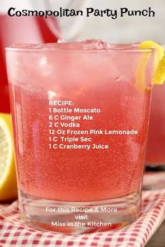 Mixed Drinks Alcohol, Alcohol Drink Recipes, Pink Mixed Drinks, Summertime Drinks, Summer Drinks, Triple Sec, Fun Cocktails, Cocktail Drinks, Cocktail Recipes