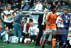 West Germany 2 Holland 1 in 1990 in Milan. The Argentine referee then sent off both Frank Rijkaard and Rudi Voller in Round 2 #WorldCupFinals
