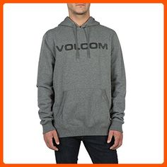 Volcom Men's Impact Hooded Pullover Fleece Hoodie, Dark Grey, X-Large - Mens world (*Amazon Partner-Link)