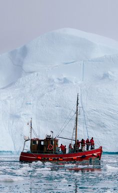 Sailing among Icebergs in Greenland