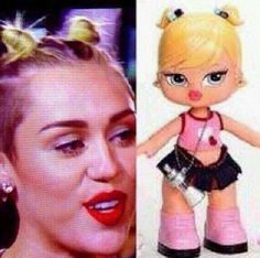22 Things Miley Cyrus Looked Like At The 2013 VMAs so funny!