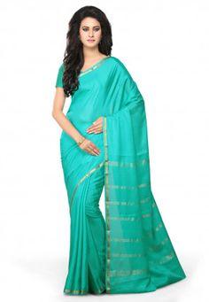 Tissé Pur Mysore Silk Saree in Blue