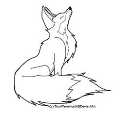 Color Me Fox outline by Tsuki-no-Rakuen on deviantART