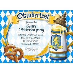 Check out Oktoberfest Personalized Invitation (Each) - Party and Birthday…