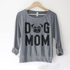 Super soft American Apparel sweater. Great Mothers Day gift for a dog mom. This garment is: - Boutique quality American Apparel garment - Available in sizes S-L - Soft lightweight poly/cotton blend - Raglan sleeves - High quality hand screen printing for bold and lasting quality (NOT DTG