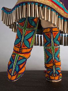 lakota sioux beadwork | Charlene Holy Bear, Great Plains Dolls - Lakota beadwork, quillwork