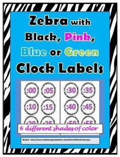 Zebra Clock Labels