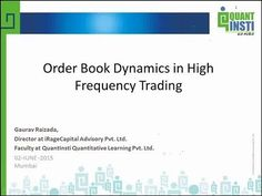 ▶ Webinar Topic: Order book dynamics in High Frequency Trading - YouTube