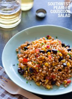 southwest pearled couscous salad