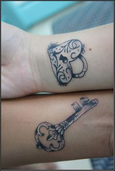 Heart Lock And Key Tattoos For