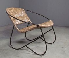 mcphee woven chair - combining clean, modern geometric form with a woven seat