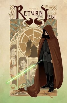 Star Wars Art Nouveau Poster Series The Full by cryssycheung
