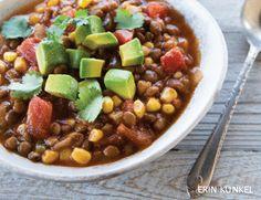 Energizing lentil chili
