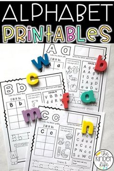 alphabet printables letters uppercase lowercase centers kindergarten preschool first grade worksheets early education