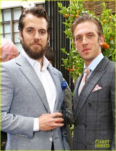 Henry Cavill and Dan Stevens, Dunhill & GQ Style party in London, June 14, 2015