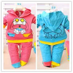 Free Shipping Baby Clothes Sets,Infant Suits,Cartoon Glasses Dog Kids Clothing,Coat Hoodies + Pants