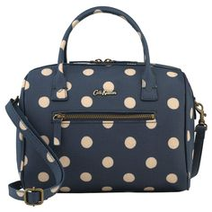 Button Spot Mini Embossed Bowler Bag | Cath Kidston |