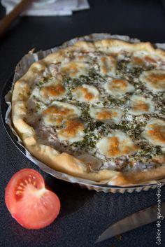 Tarte Express  Thon Tomates Mozzarella