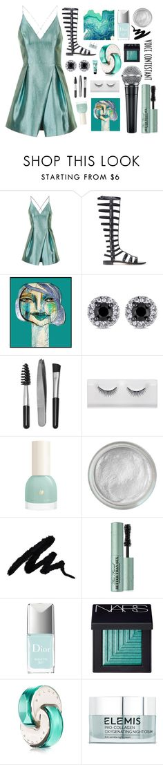 """""""Art is Art"""" by yvestellaurent ❤ liked on Polyvore featuring Topshop, Stuart Weitzman, Sephora Collection, Silver Lining, Too Faced Cosmetics, Christian Dior, NARS Cosmetics, Bulgari, Elemis and Benefit"""