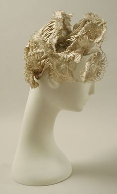 Hat    Date:      1830s  Culture:      French  Medium:      silk  Dimensions:      Diameter: 7 in. (17.8 cm)
