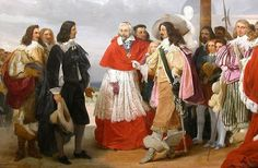 Nicolas Poussin, one of the greatest French painters of that era, on his arrival from Rome, is introduced to Louis XIII by Cardinal Richelieu.