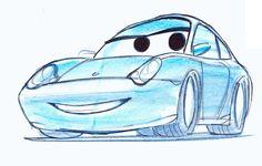 Cars - Quatre Roues - The Art of Disney Disney Films, Disney Cars, Disney Pixar, Disney Sketches, Disney Drawings, Croquis Disney, Character Drawing, Character Design, Animation Disney