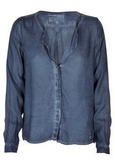 Garcia Jeans - Ladies Blouse - Smoked Marine fra Garcia Jeans