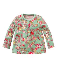 Green Floral Tinta Top - Infant Toddler & Girls
