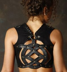 Sefirah Fierce Leather Geo Top....Gladiator woman! This would make me feel like a badass!