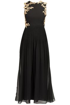 Black embellished jumpsuit available only at Pernia's Pop-Up Shop.