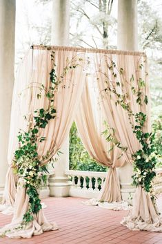 2017 Wedding Trends-Top 30 Greenery Wedding Decoration Ideas elegant greenery and blush wedding arch ideas Wedding Ceremony Ideas, Wedding Altars, Wedding Trends, Wedding Arches, Wedding Venues, Wedding Backdrops, Wedding Blog, Ceremony Arch, Wedding Chuppah