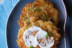 Cheesy Quinoa Cakes with Roasted Garlic and Lemon Aioli