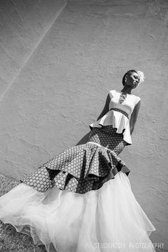 Stunning taking on traditional sotho bridal wear.