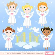 Angels clipart: ANGEL CLIPART with angel girl