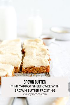 Butter Cream Cheese Frosting, Cake With Cream Cheese, Mini Carrot Cake, Small Batch Baking, Mini Carrots, Single Layer Cakes, Homemade Pastries, Pumpkin Bread, Kitchen Recipes