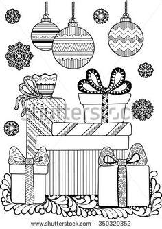Christmas Coloring Book Compre Este Vector En Shutterstock Y Encuentre Otras Imagenes