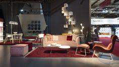 SWEET sofa / SOAP pouf / POM POM bedside light / MEDLEY rug / LAZY armchair with ottoman / TWEET coffee table
