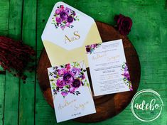 Invitatie nunta Malva Gift Wrapping, Floral, Gifts, Design, Gift Wrapping Paper, Presents, Wrapping Gifts, Flowers