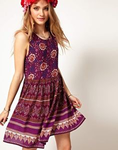 Enlarge Minkpink Sleeveless Mini Dress in Bohemian Print
