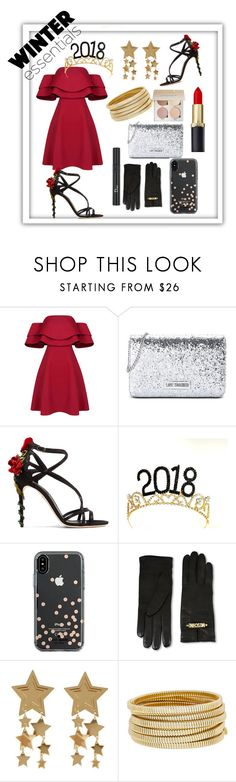 """""""New style, new looks, new year"""" by bynxbabycoco ❤ liked on Polyvore featuring Love Moschino, Dolce&Gabbana, Kate Spade, Moschino, Bagutta, Christian Dior, Winter, NewYears and HolidayParty"""