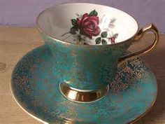 vintage tea set roses - Search