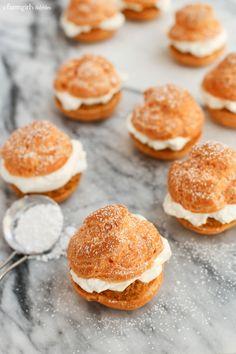 Pumpkin Pie Cream Puffs from afarmgirlsdabbles.com