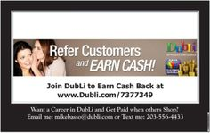 Sign up as a VIP Member and you will Earn $20 for each VIP Membership Referral. With membership comes rewards. www.Dubli.com/7377349