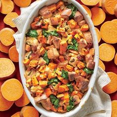 One of the South's prized crops, sweet potatoes have dozens of varieties from white to deep orange. Look for smooth, unblemished medium...